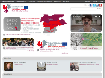 Europaregion Website, Congress Centrum Alpbach, Tirol, Österreich
